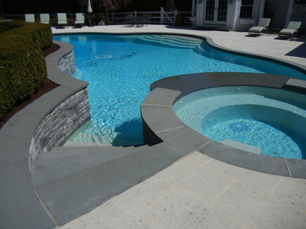 Bluestone Pool Coping, Stack stone, granite pavers