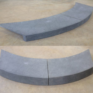 Bluestone Rebated Curved Pool Coping Tile