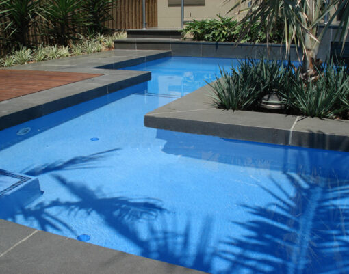 Bluestone pool coping drop face tiles