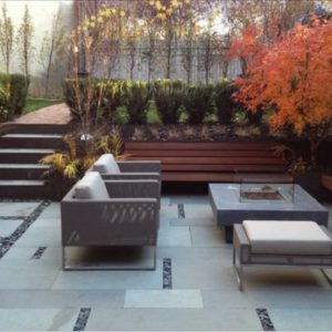 harkaway bluestone sawn and lightly honed pavers alfresco area