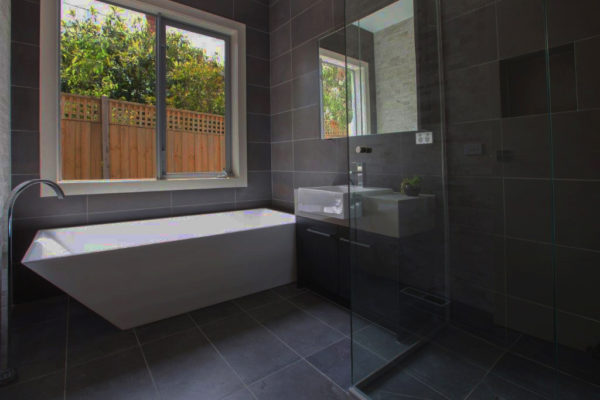 honed bluestone bathroom tiles