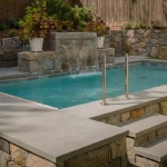 sawn and lightly honed Bluestone Pool Edge Coping Tiles