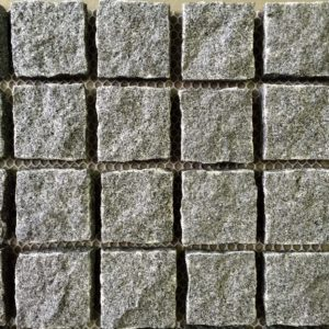 raven grey natural split cobblestones