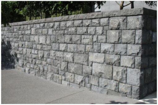 Natural split bluestone wall cladding