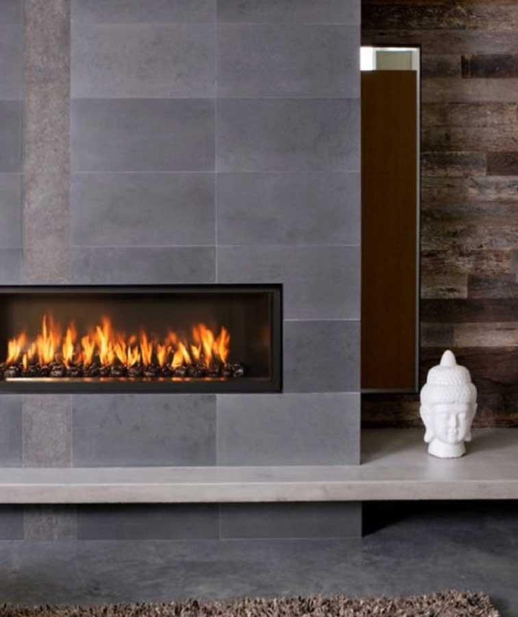 Fireplace bluestone cladding indoor tiles bathroom