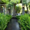 Garden path black outdoor tiles pavers