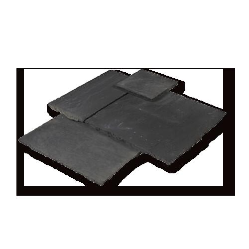 Midnight blue black limestone french pattern tiles