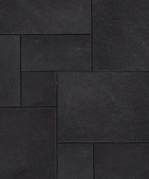 Midnight blue french pattern tiles and pavers