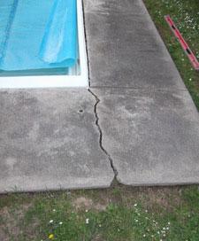 concrete pavers around a pool