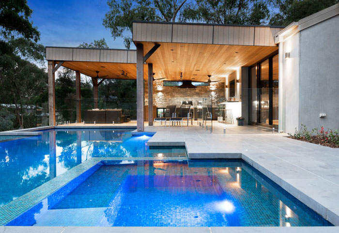 pool tiles in bluestone from Sydney